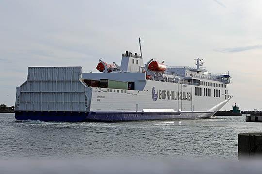 Fortsat mange rejser med færge via Køge