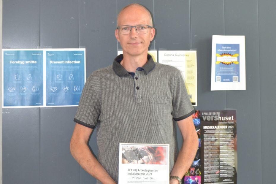 Michael Juel Hansen vandt installatørpris