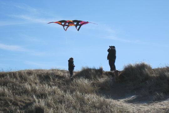 Drageflyvning ved øens strande