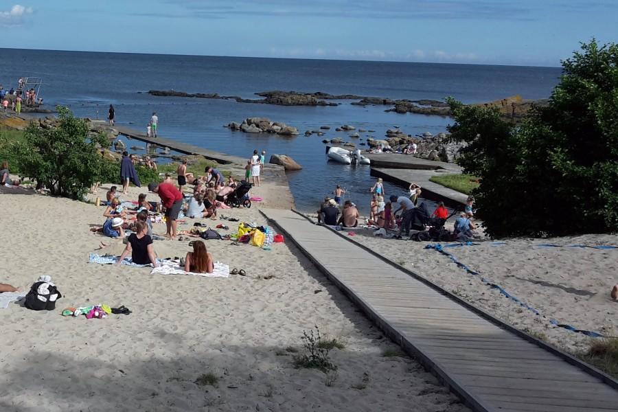 Badning frarådes ved Hullehavn