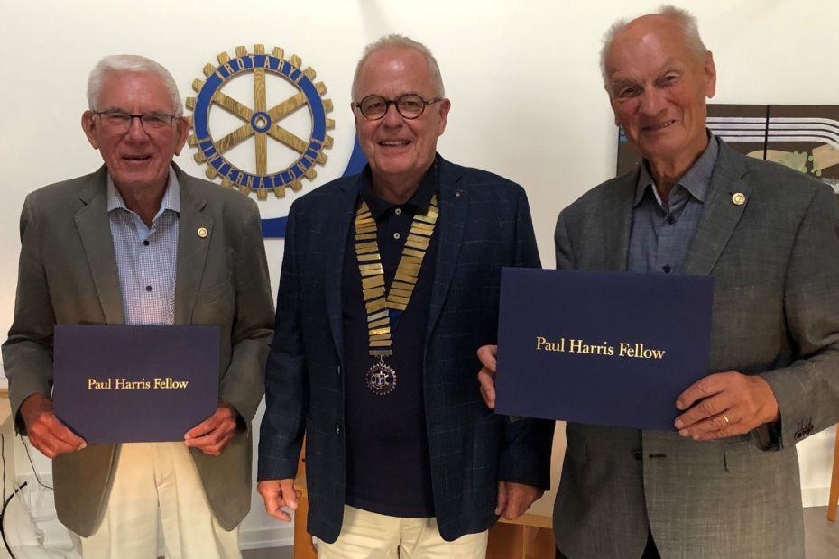 To fik Rotarys særlige udmærkelse