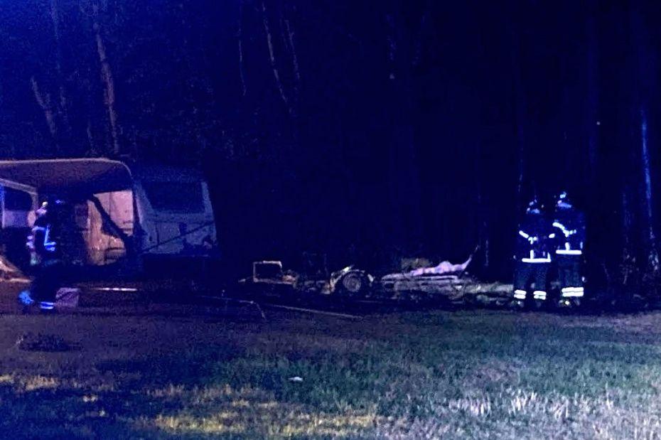 24-årig anholdt for at sætte ild på campingvogn