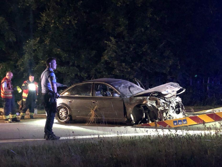 To personer skadet i trafikuheld i Lobbæk i nat